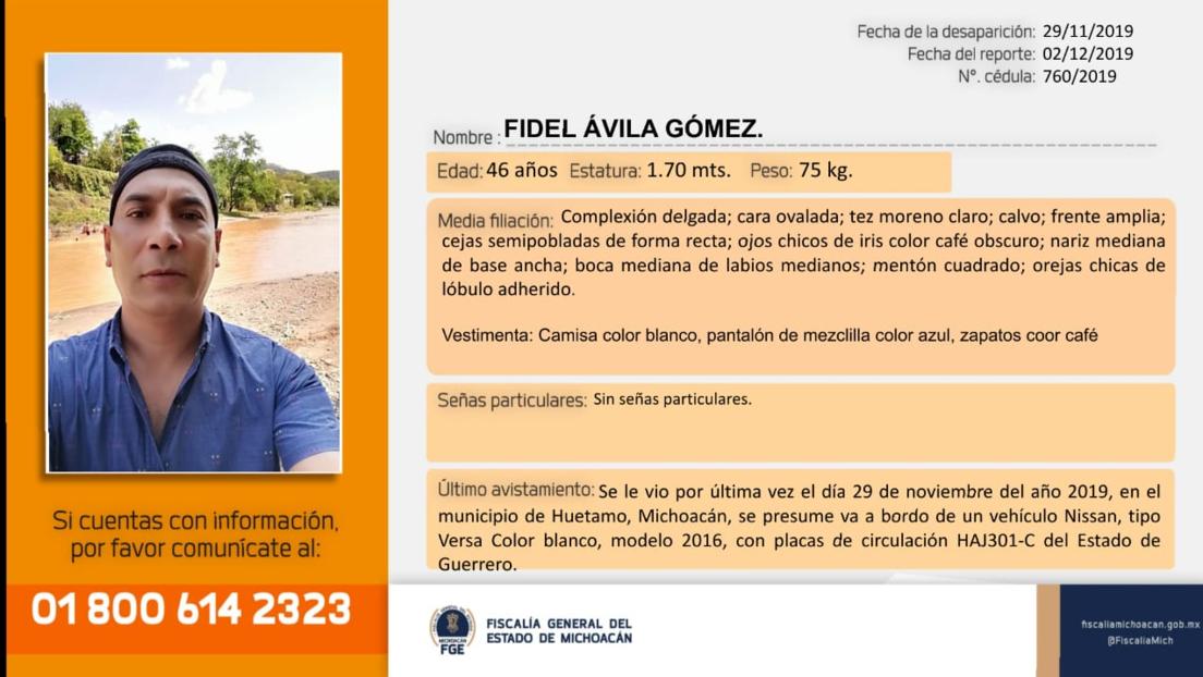 Autoridades localizan el cuerpo del periodista Fidel Ávila cerca del estado mexicano de Guerrero