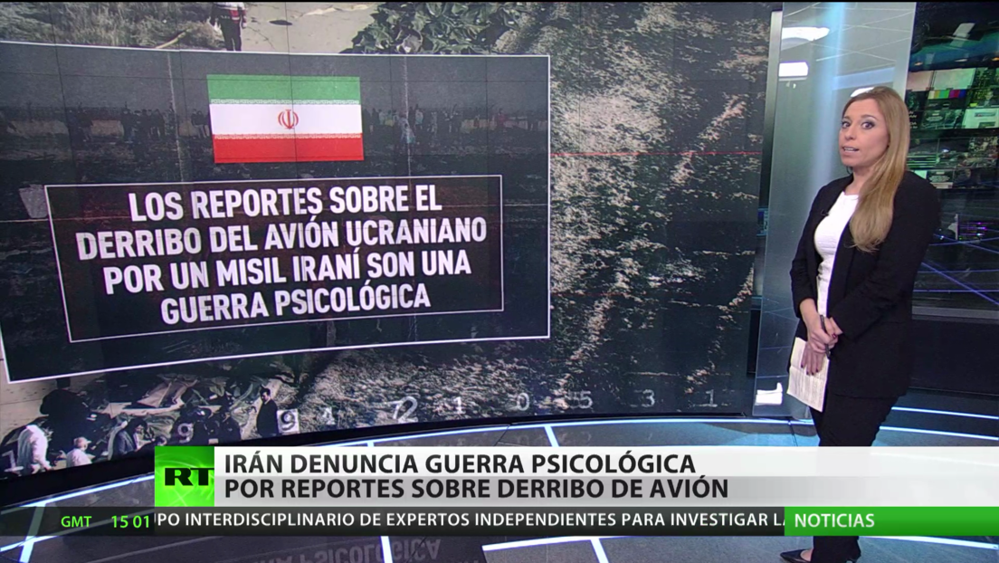 """Irán denuncia una """"guerra psicológica"""" en su contra tras las acusaciones sobre el derribo del Boeing ucraniano"""