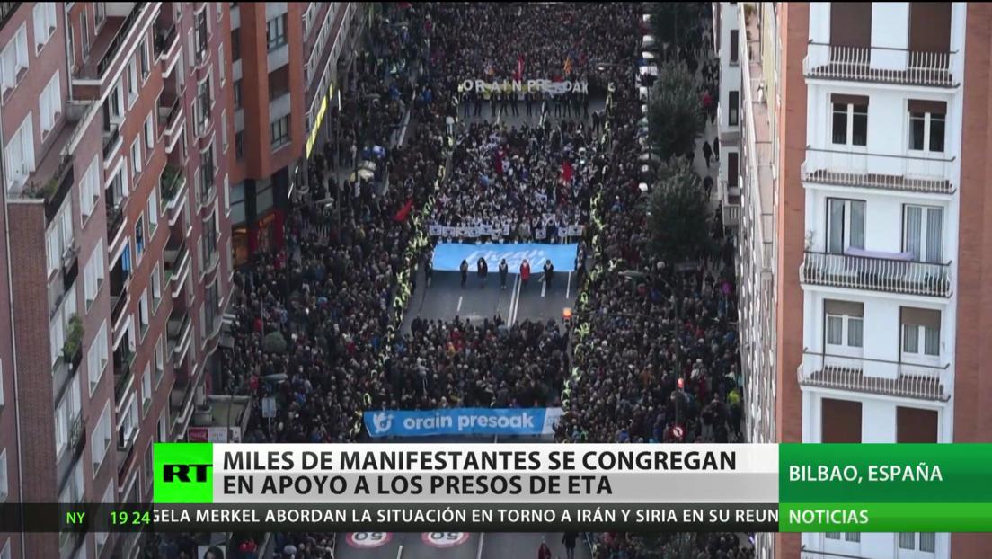 España: Miles de manifestantes se congregan en apoyo a los presos de ETA