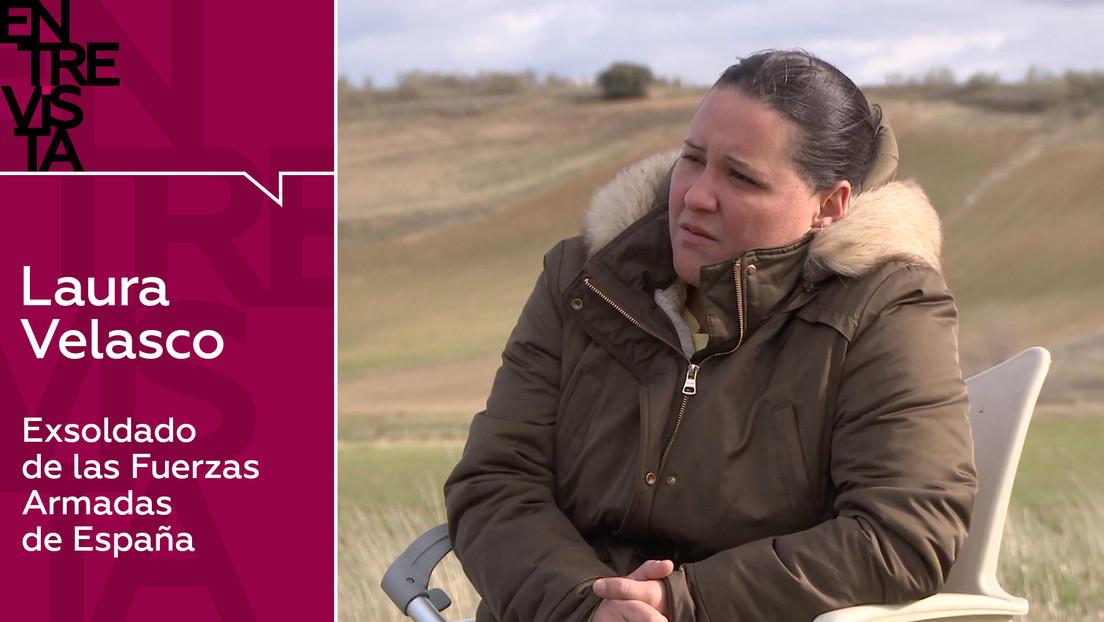 """Laura Velasco, exsoldado de las Fuerzas Armadas de España: """"En el Ejército español la gente está callada por miedo a perder su trabajo"""""""