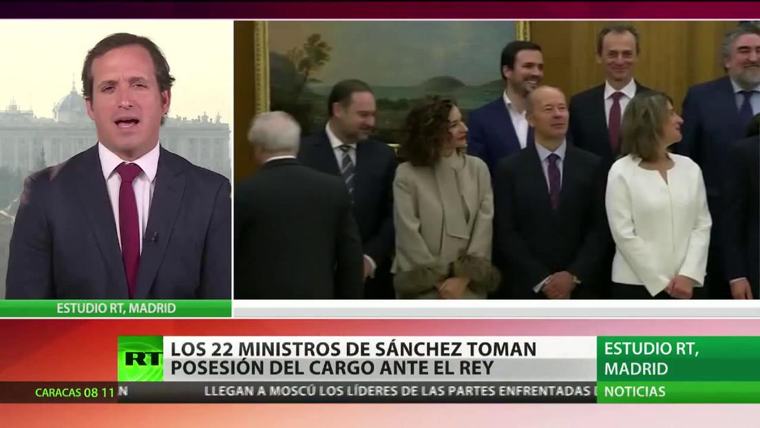 Los 22 ministros del Gobierno de Sánchez toman posesión del cargo ante el rey de España