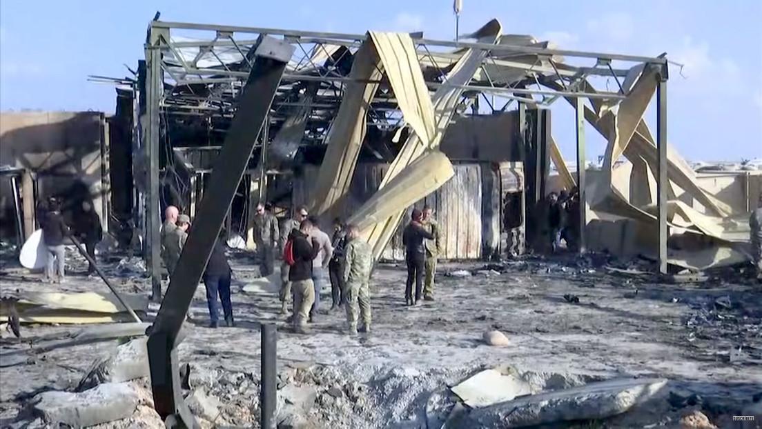 VIDEO: Daños en la base militar iraquí que albergaba tropas de EE.UU. tras el ataque de misiles iraníes