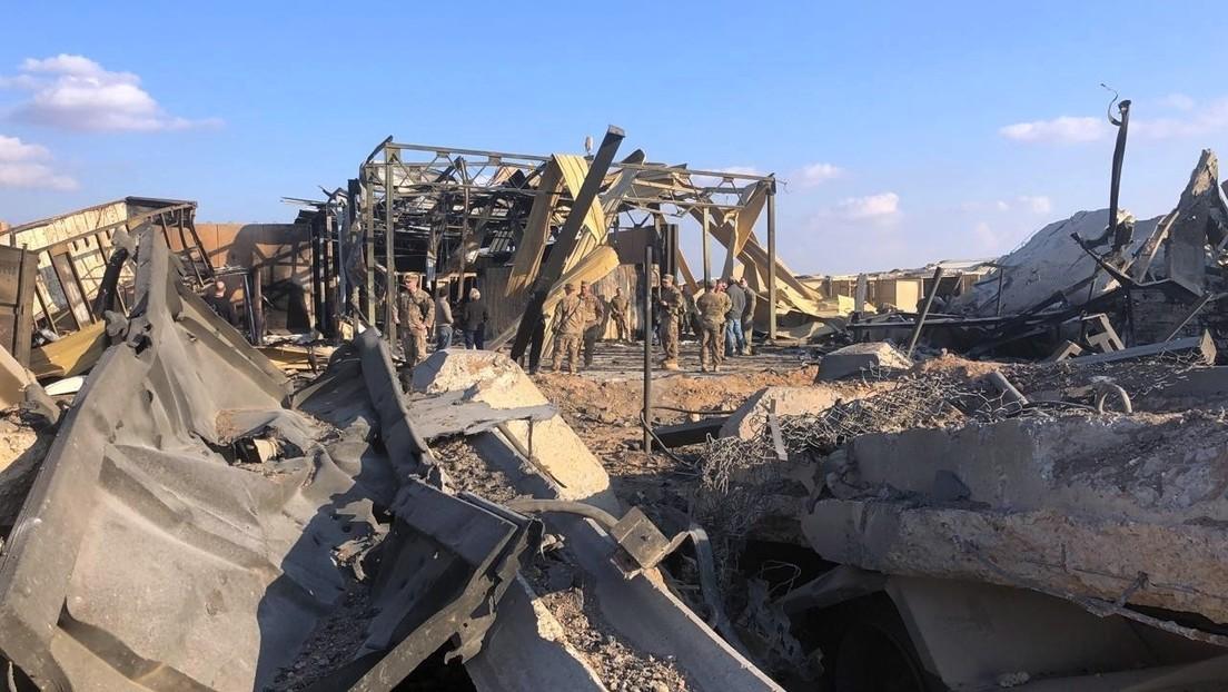 Nuevas fotos muestran de cerca la destrucción causada por el ataque misilístico de Irán a la base militar iraquí que albergaba tropas de EE.UU.