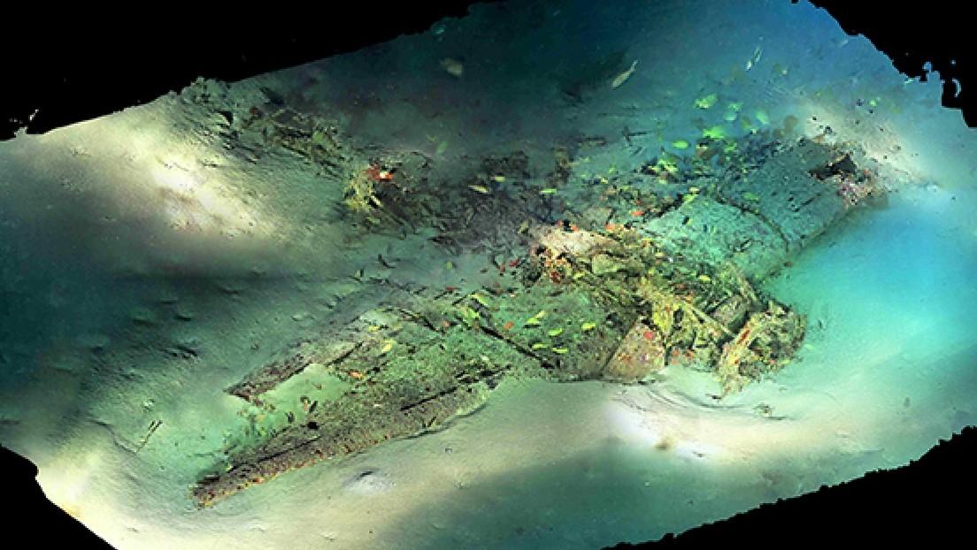 FOTOS: Recrean los restos de un avión militar estadounidense que cayó al fondo del Pacífico durante la II Guerra Mundial
