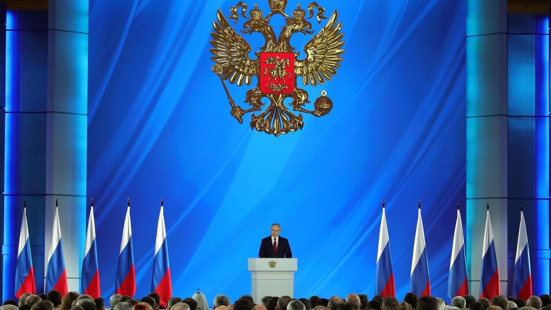 Putin describe los principales vectores sociales del desarrollo de Rusia durante su discurso anual ante la Asamblea Federal