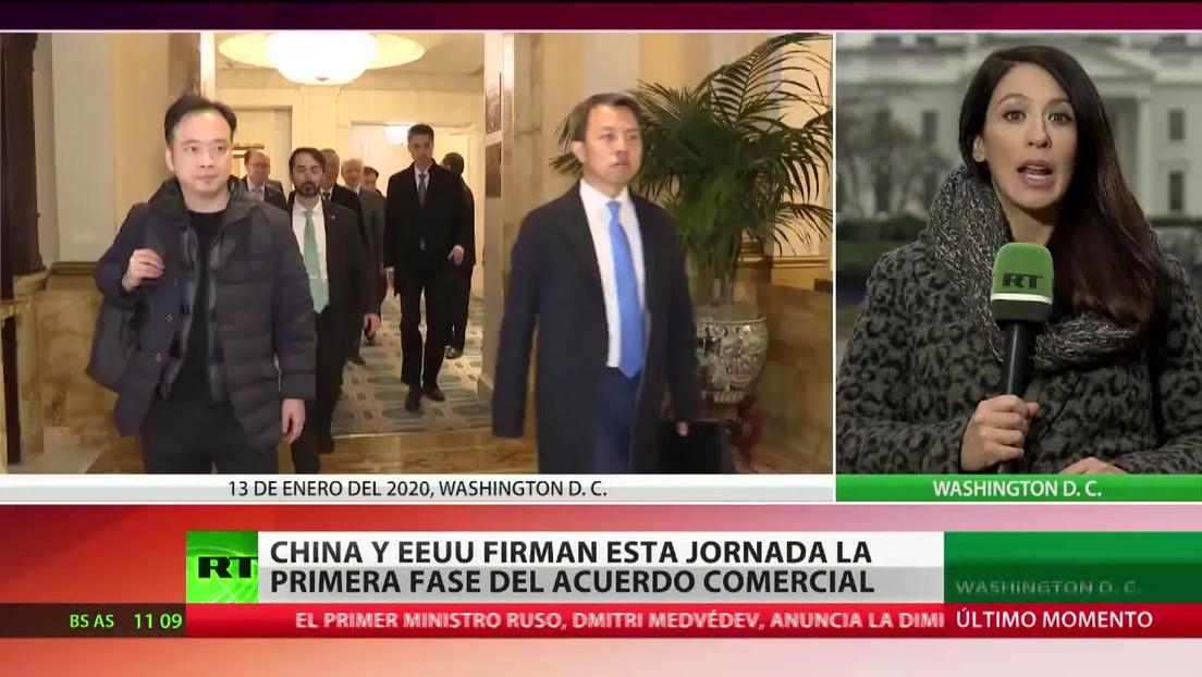 China y EE.UU. firman la primera fase de su acuerdo comercial