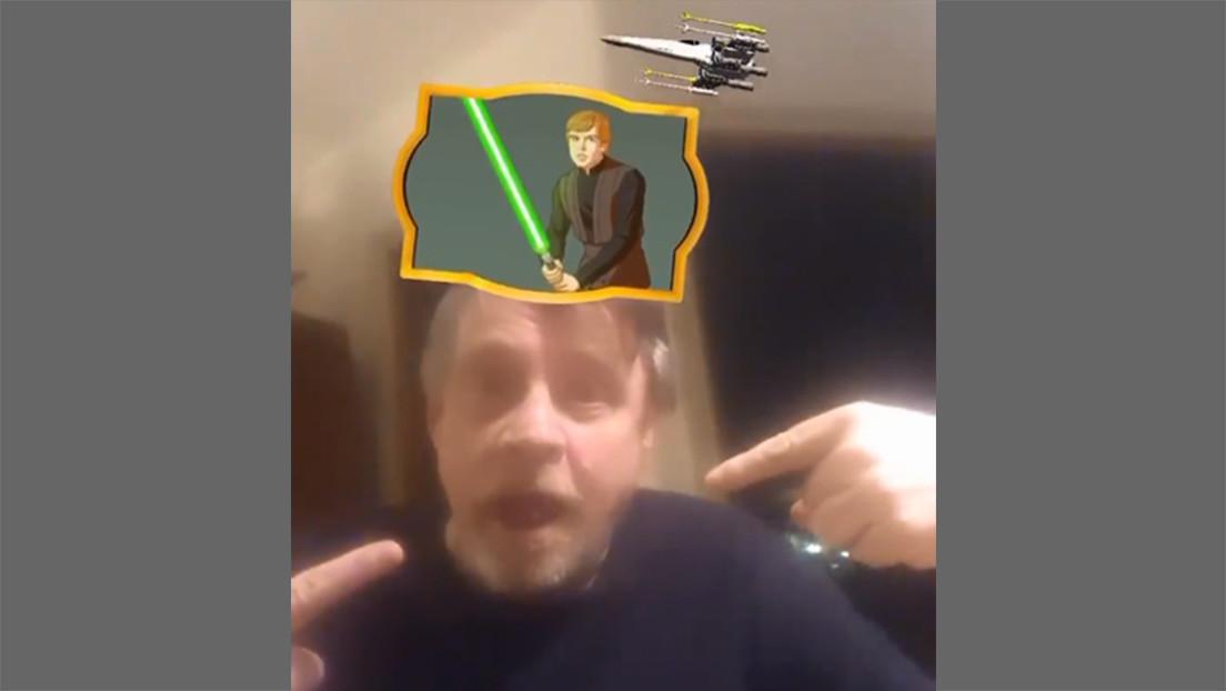 ¿Trampa o la Fuerza? Mark Hamill prueba un filtro de 'Star Wars' en Instagram y le sale su icónico papel (VIDEO)