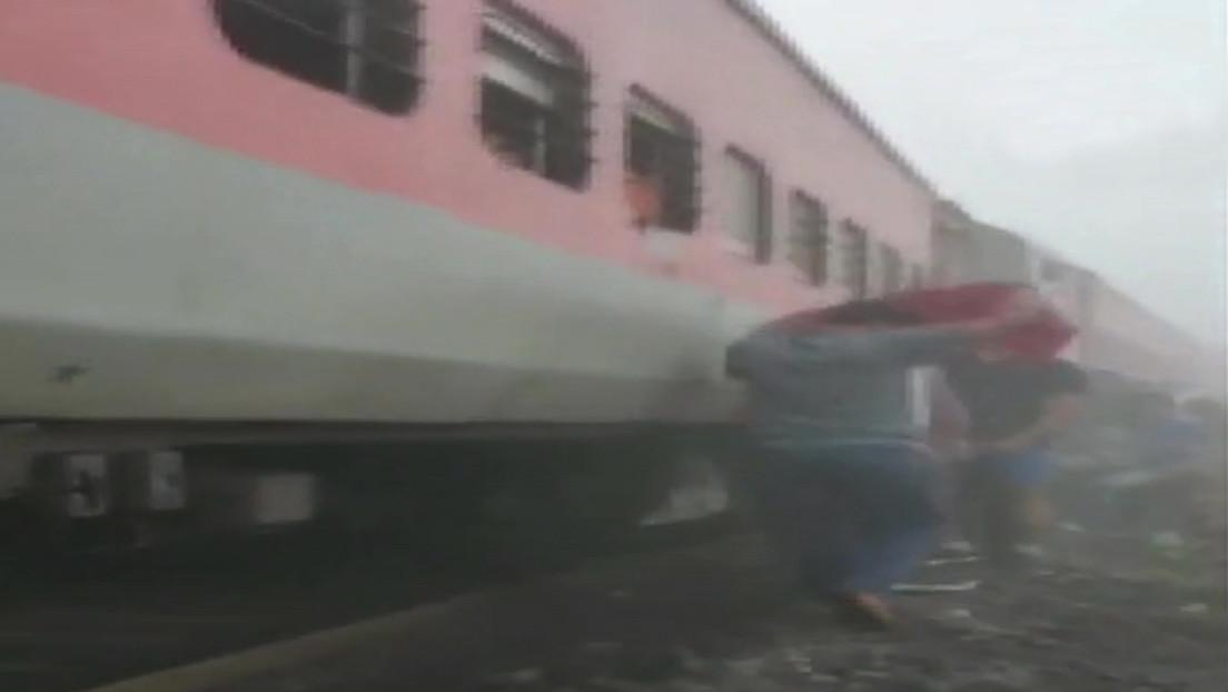 FOTOS: Decenas de heridos tras la colisión de un tren de pasajeros y uno de carga en la India