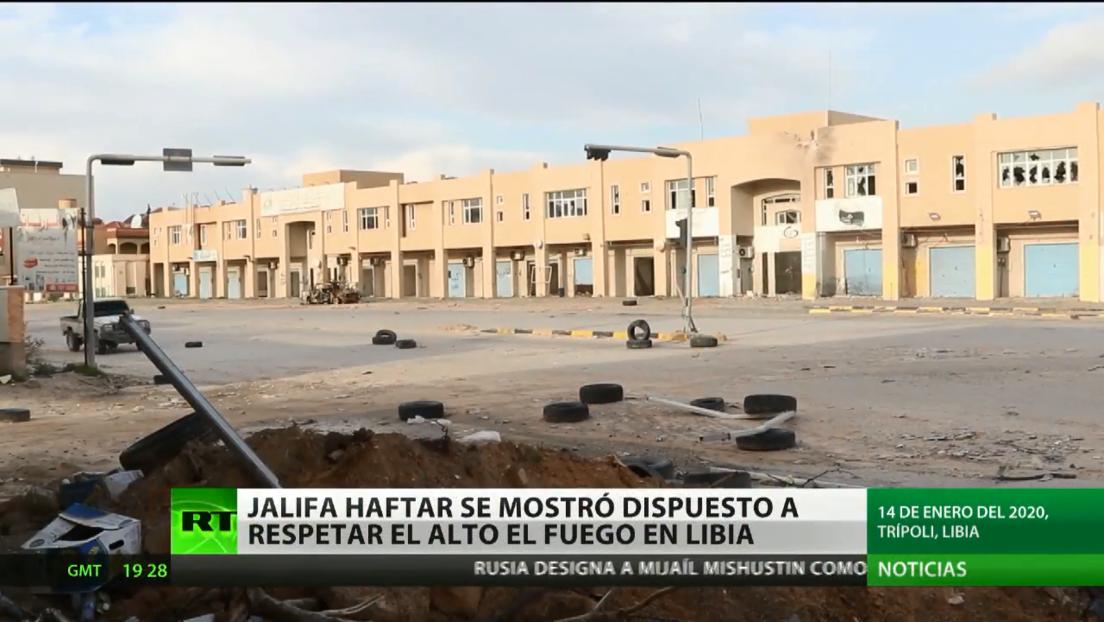 Angela Merkel apoya la decisión del mariscal Haftar de respetar el alto al fuego en Libia