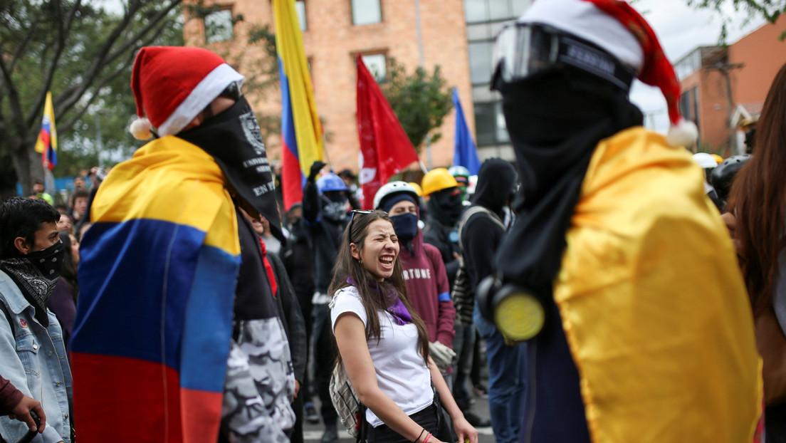 Estudiantes colombianos protagonizan una nueva jornada de protestas en Bogotá para exigir mayor presupuesto