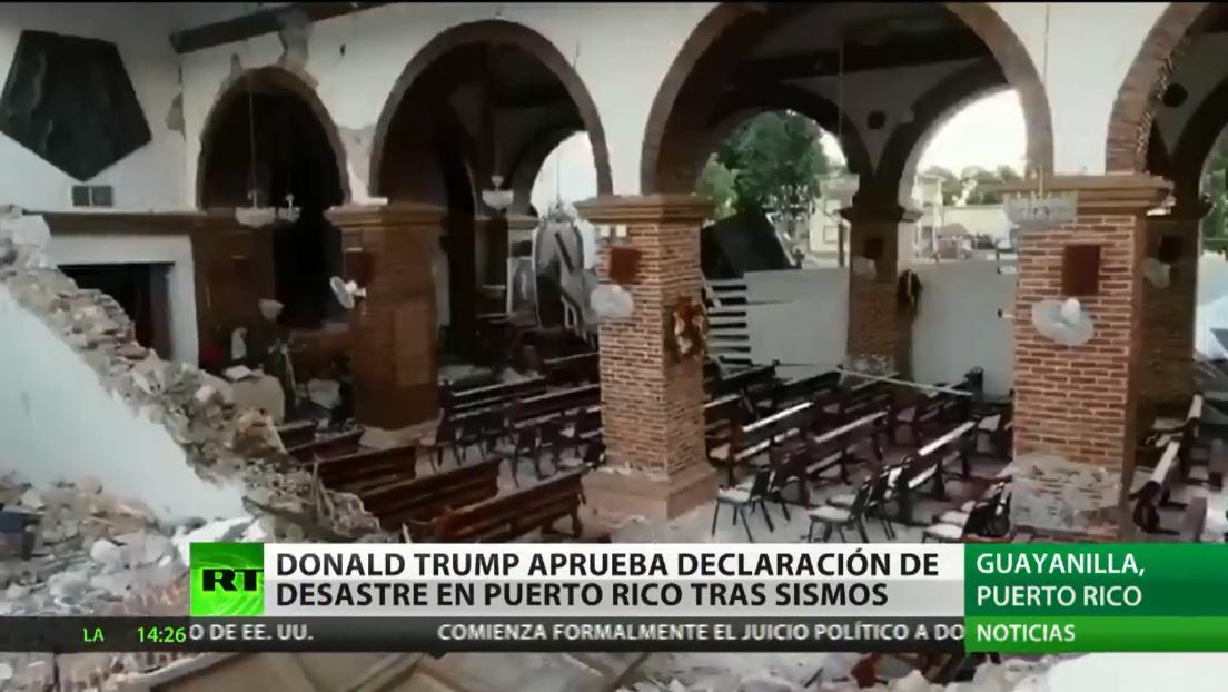 Trump firma la declaración de desastre mayor para Puerto Rico tras cadena de sismos