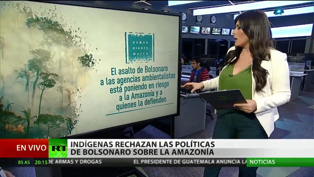 Indígenas rechazan las políticas de Bolsonaro sobre la Amazonía