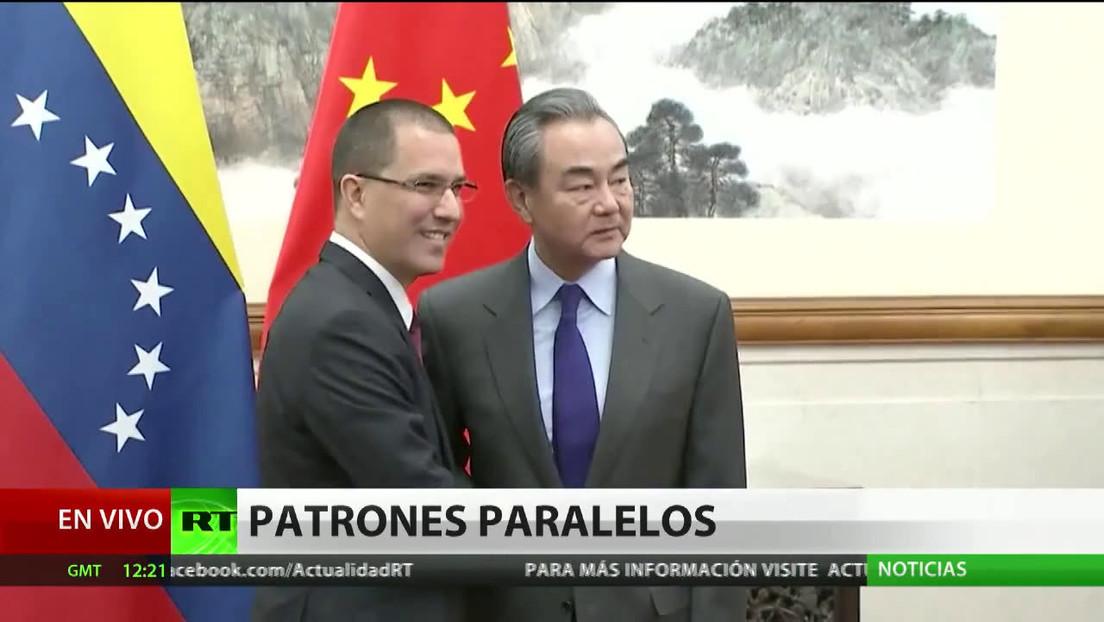 Arreaza destaca similitudes en las crisis de Hong Kong y Venezuela