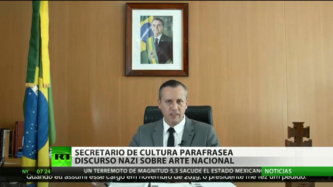Parafrasean en Brasil un discurso nazi para anunciar varios concursos de arte