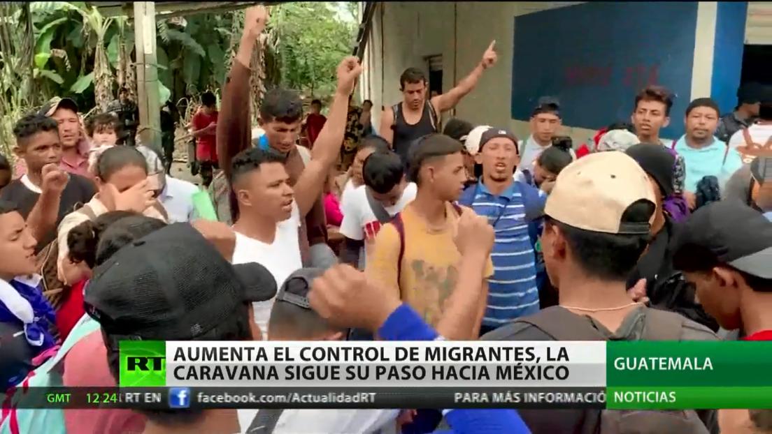 Autoridades aumentan el control de migrantes en Guatemala al formarse una caravana más al norte