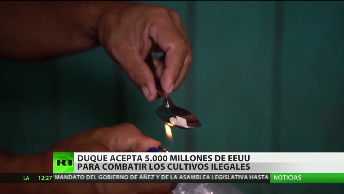 El presidente de Colombia acepta 5.000 millones de dólares de EE.UU. para combatir cultivos ilegales