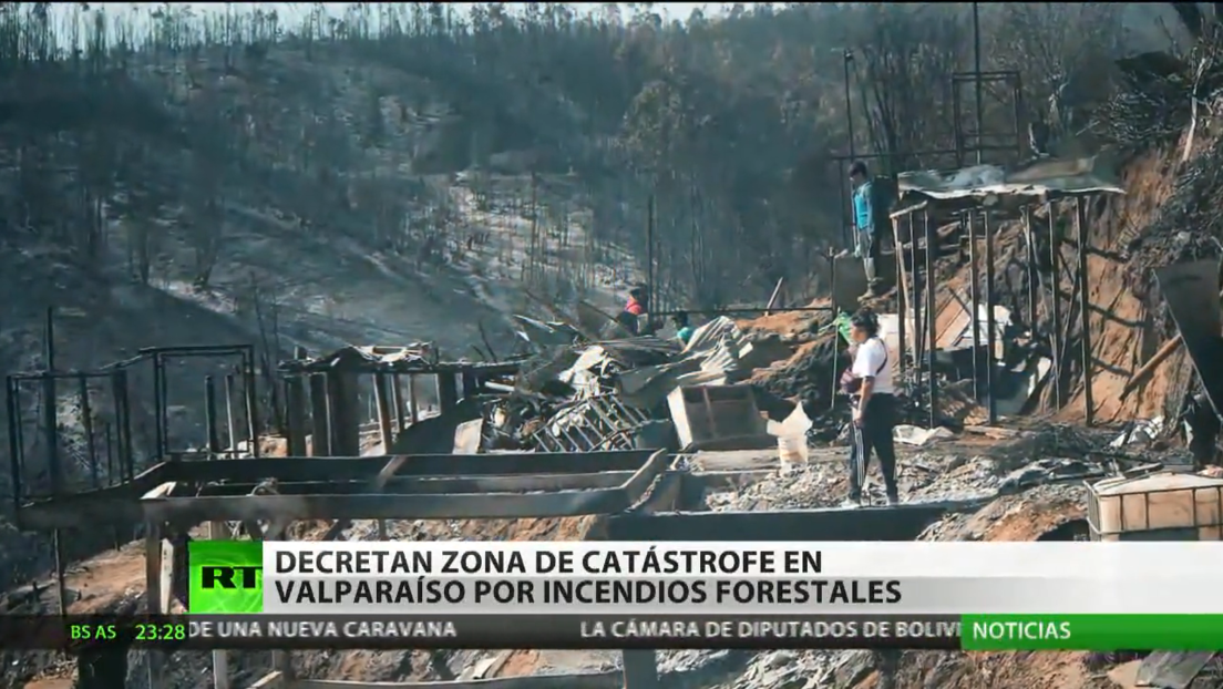 Chile: decretan zona de catástrofe en Valparaíso por incendios forestales