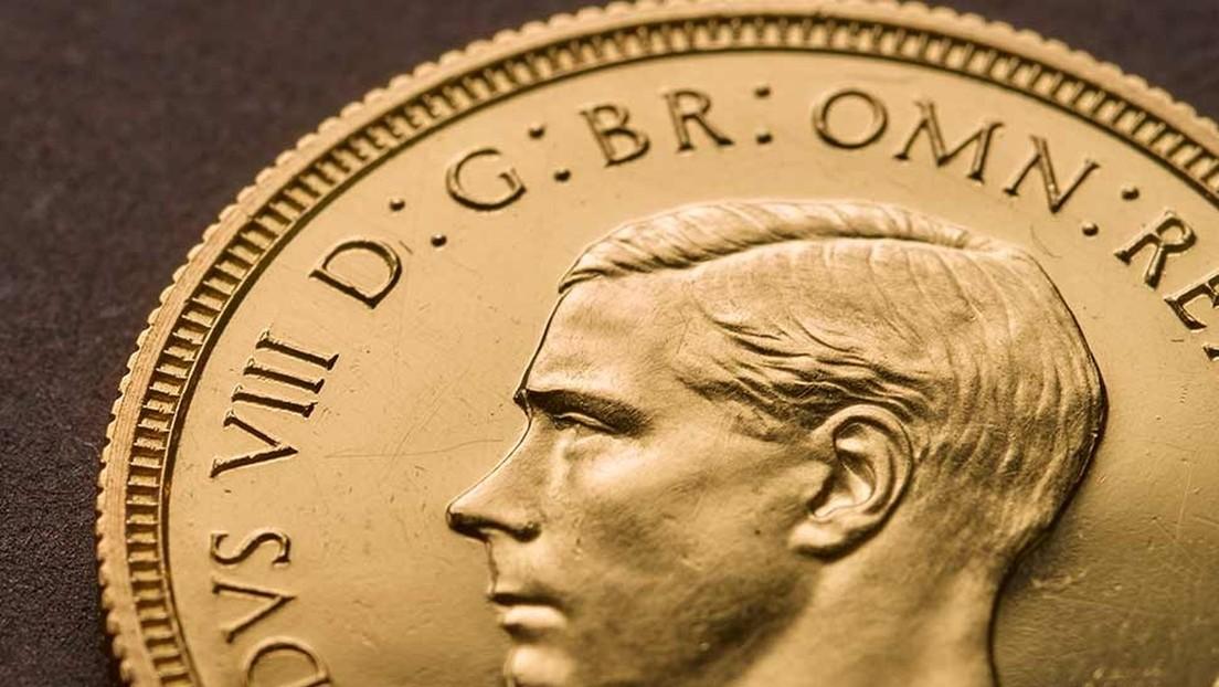Venden una moneda de un polémico rey británico simpatizante de Hitler por el precio récord de 1,3 millones de dólares