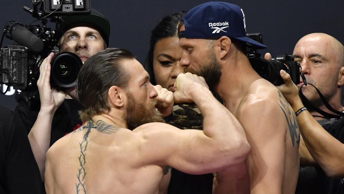 VIDEO: McGregor no puede contener las ganas de pelear durante el pesaje con Cerrone y ofrece un espectacular 'show' a las cámaras