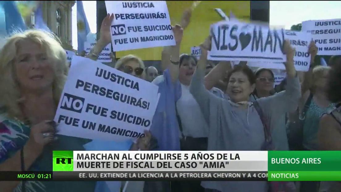 Organizan una marcha en Buenos Aires al cumplirse 5 años de la muerte del fiscal del caso AMIA