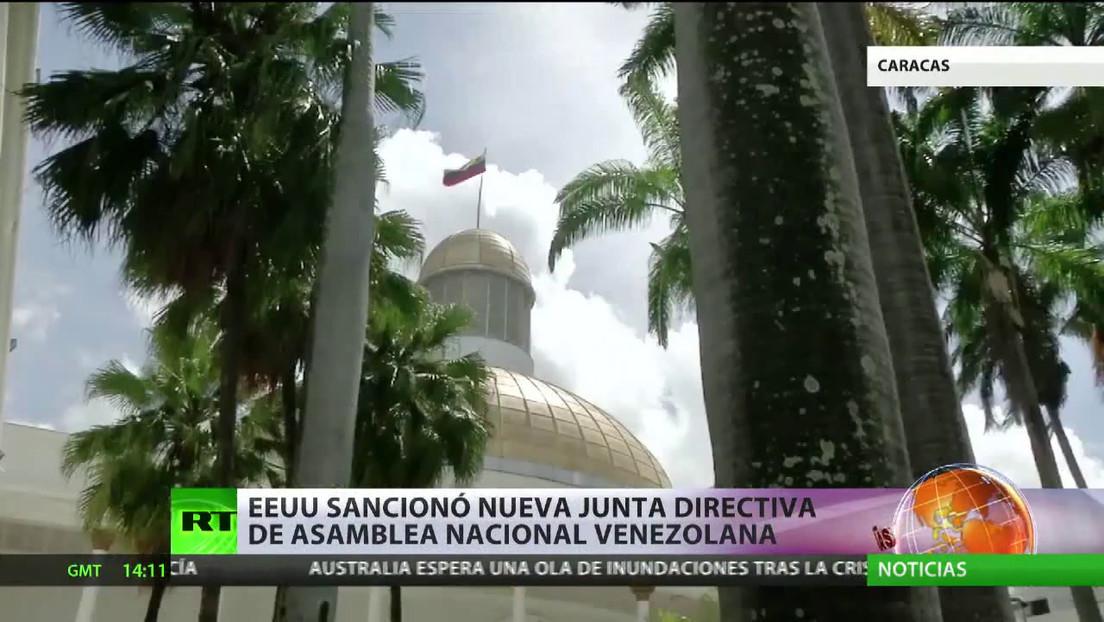 EE.UU. sanciona a la nueva Junta Directiva de la Asamblea Nacional de Venezuela