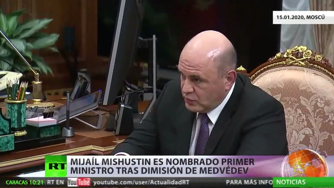 Mijaíl Mishustin es nombrado nuevo jefe del Gobierno de Rusia tras la dimisión de Medvédev y todo su Gabinete