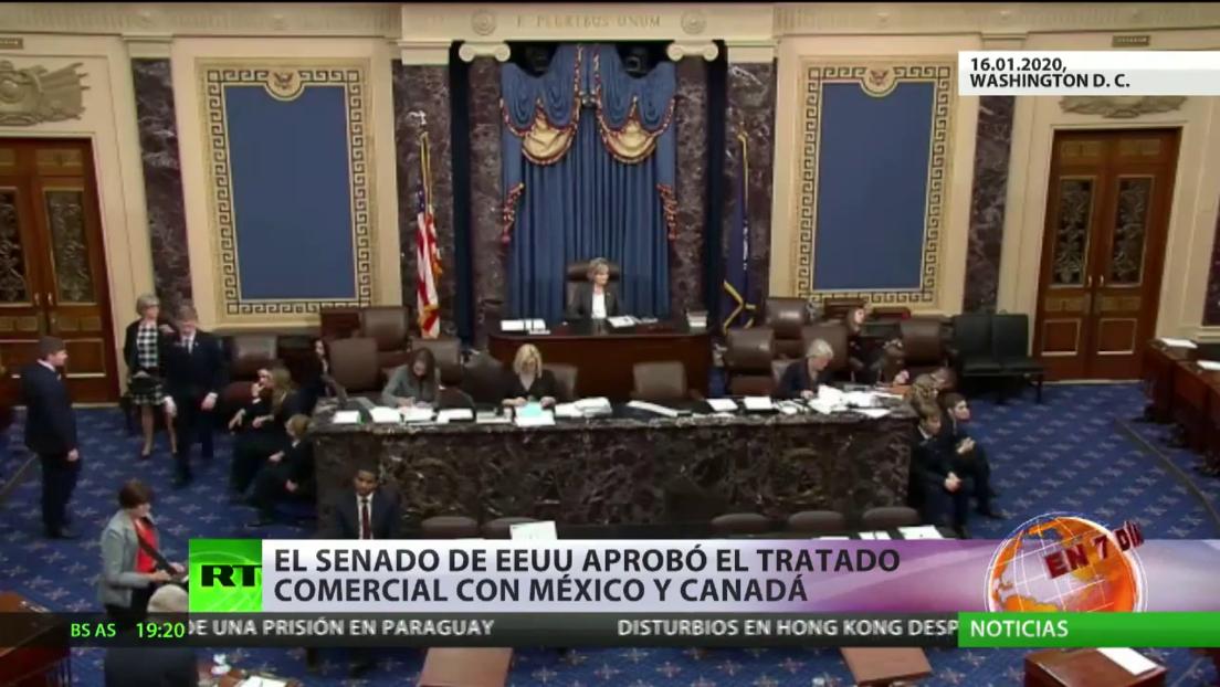 El Senado de EE.UU. aprueba el tratado comercial con México y Canadá