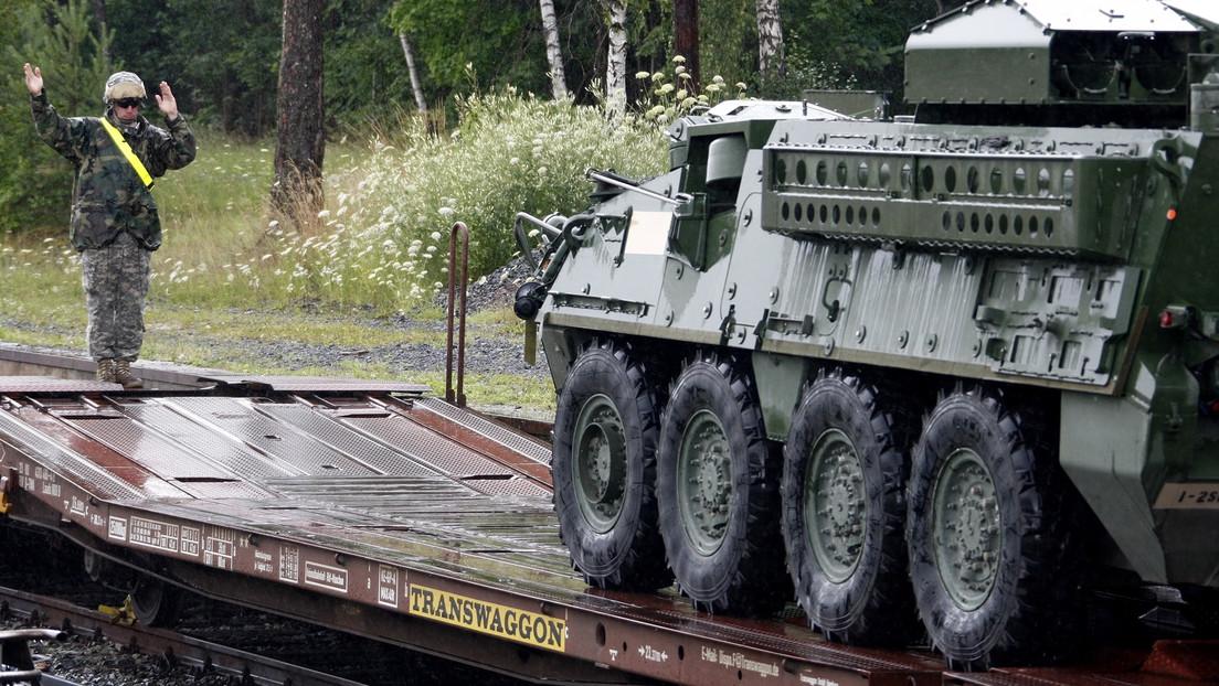 FOTOS: Un vehículo blindado del Ejército de EE.UU. se incendia en Polonia