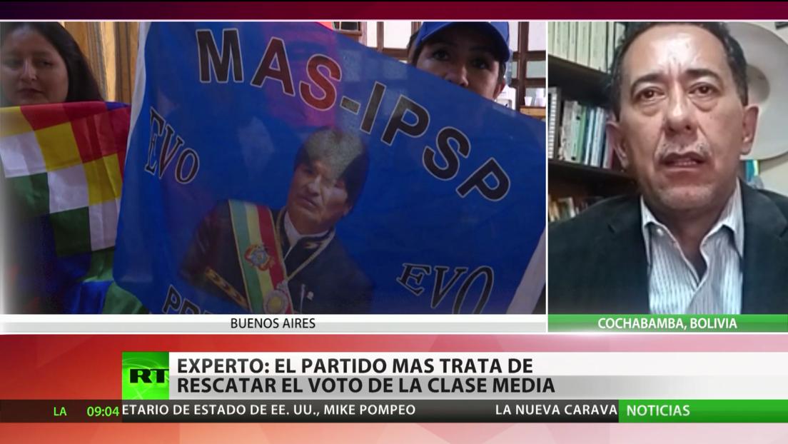 Experto: El movimiento político MAS trata de rescatar el voto de la clase media en Bolivia