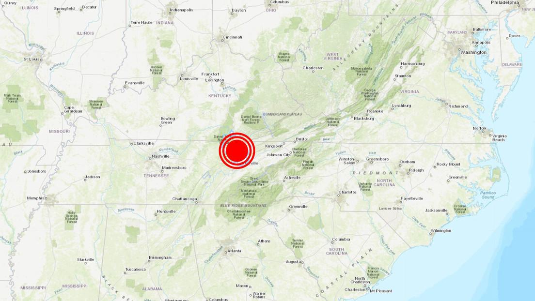 EE.UU.: Se registra un sismo de magnitud 3,6 en Tennessee