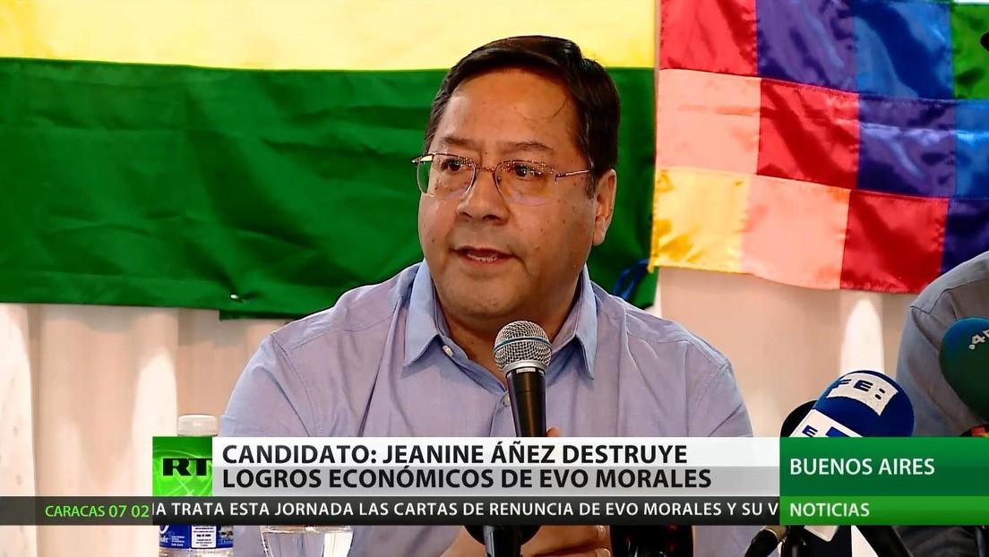 El candidato a la presidencia de Bolivia Luis Arce denuncia que Jeanine Áñez destruye los logros económicos de Evo Morales