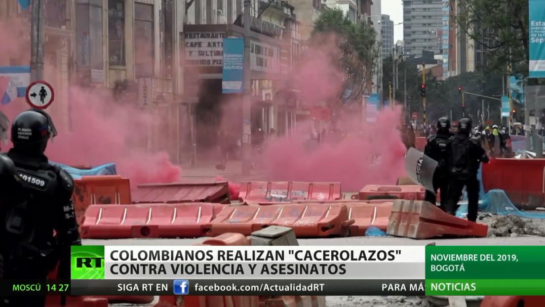 Colombianos realizan 'cacerolazos' contra la violencia y los asesinatos