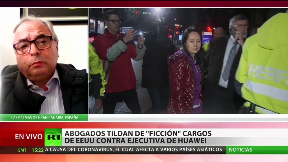 """Experto: El pedido de extradición de la directora financiera de Huawei tiene """"motivaciones políticas"""" de EE.UU."""