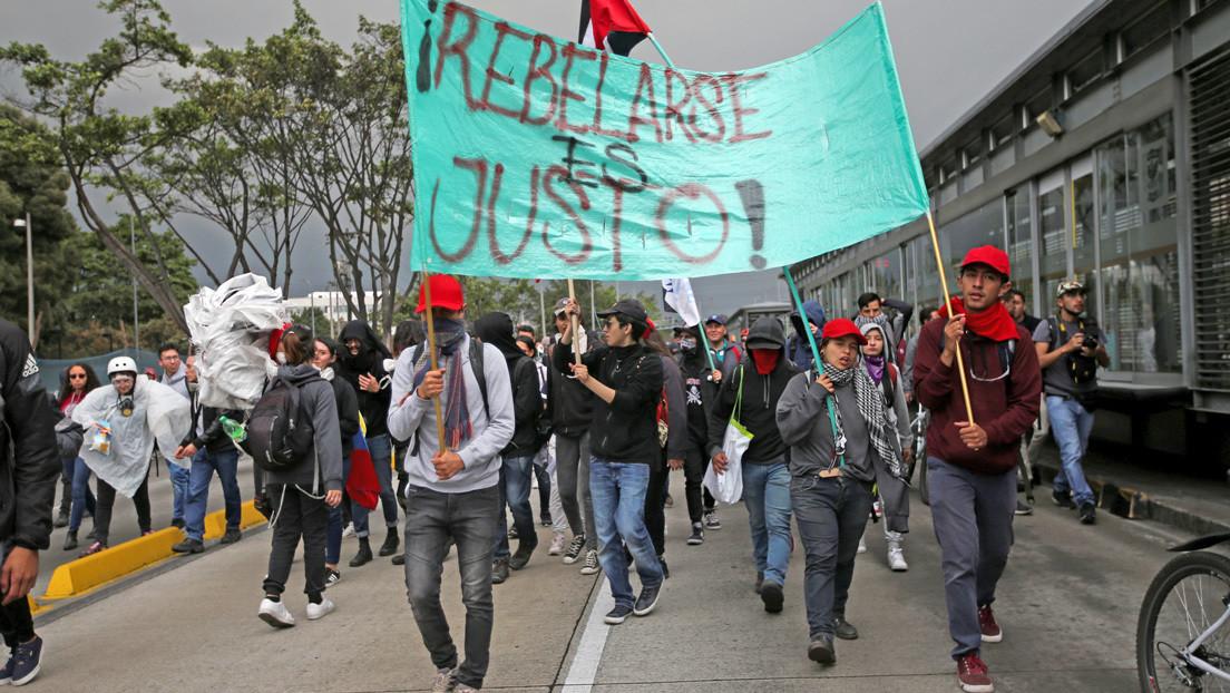VIDEO: Manifestantes protestan contra las políticas de Iván Duque en Colombia