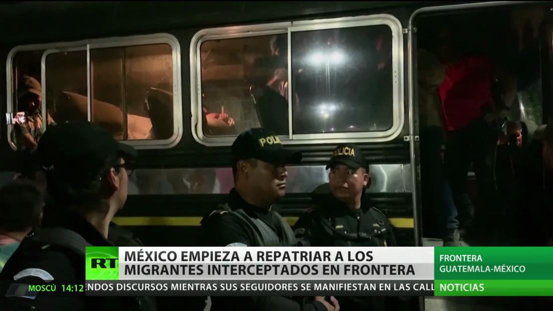 México empieza a repatriar a los migrantes interceptados en la frontera