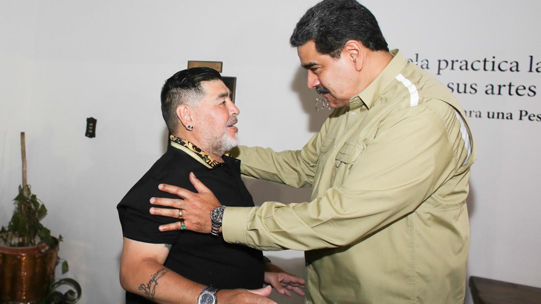 """Maduro recibe a Maradona  y le agradece su apoyo: """"Venezuela es tu casa, hermano del alma"""" (VIDEO)"""