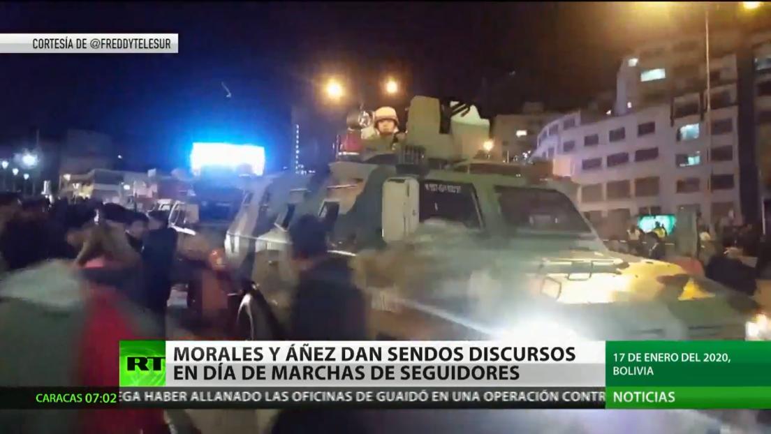 Bolivia se prepara para marchas a favor y contra el Gobierno interino