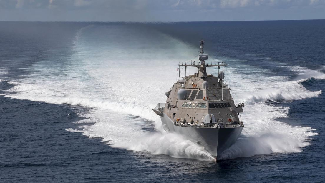 VIDEO: La Marina de los Estados Unidos bota un nuevo buque de combate litoral