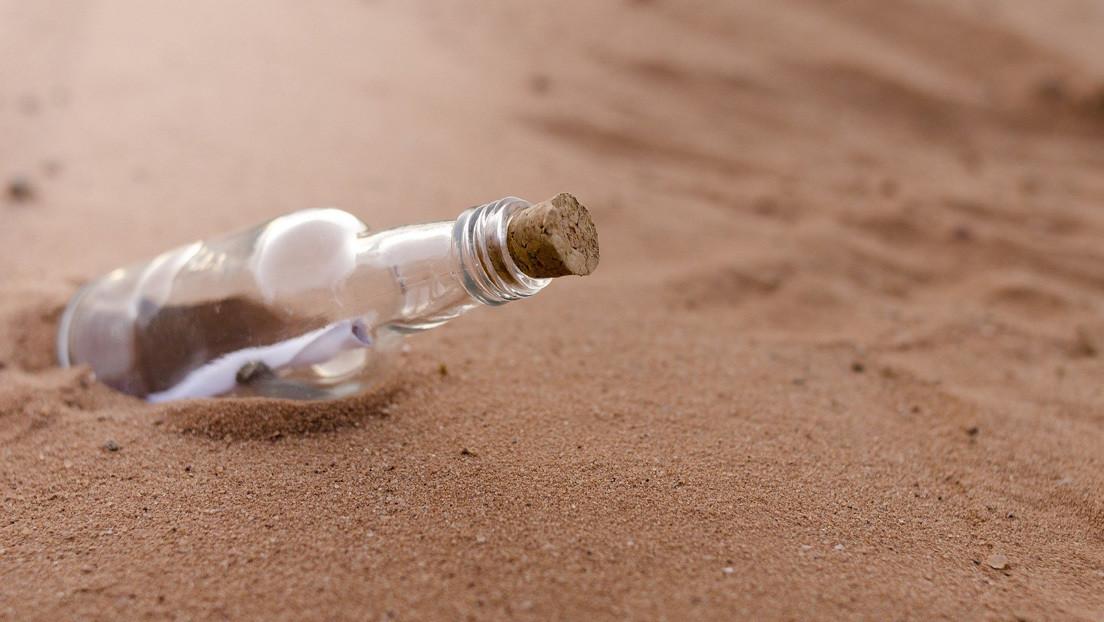 Mensaje dentro de una botella encuentra destinatario a 5.000 kilómetros de distancia