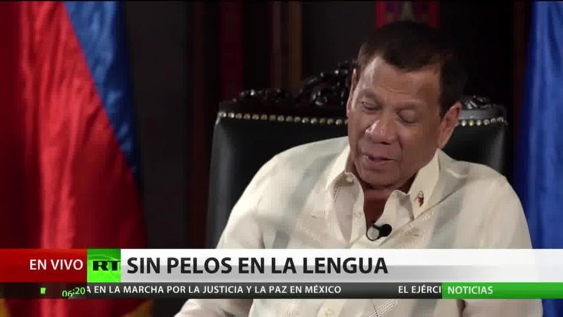 """Duterte: """"No visitaré EE.UU., soy el líder de un país soberano"""""""