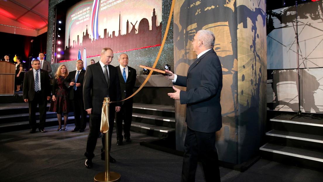 VIDEO: Lavrov no puede contener las lágrimas durante la inauguración en Jerusalén del monumento a los héroes del sitio de Leningrado