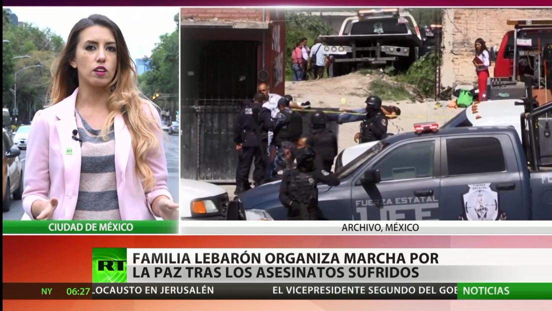 La familia Lebarón marcha por la paz tras los asesinatos sufridos