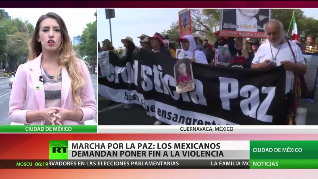 Marcha por la paz: los mexicanos exigen el fin de la violencia