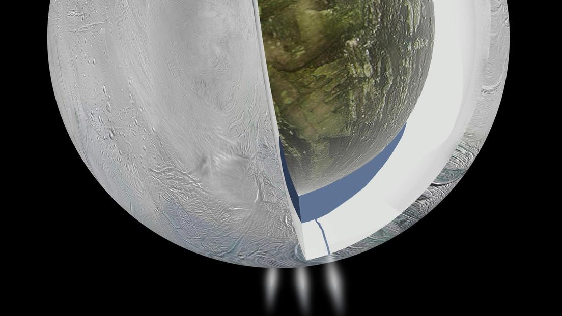 """Crece la evidencia del """"desequilibrio químico"""" en un satélite de Saturno que apunta a su posible habitabilidad"""