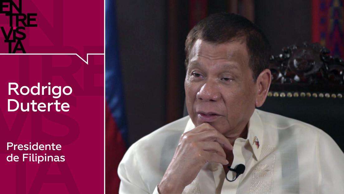 """Rodrigo Duterte: """"Me gustaría abrir nuevos frentes con Rusia y China, ellos respetan la soberanía del país, algo que  EE.UU. no hace"""""""