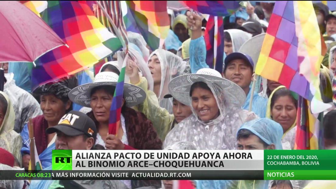Bolivia: Alianza Pacto de Unidad apoya ahora al binomio Arce - Choquehuanca
