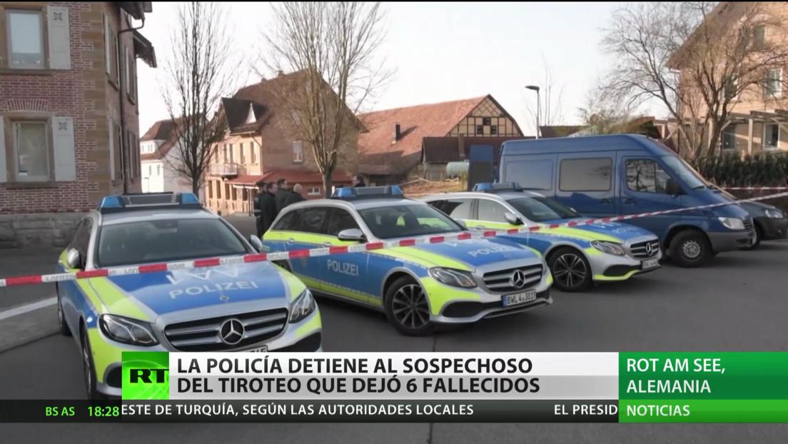 La Policía detiene al sospechoso del tiroteo que dejó 6 muertos en Alemania
