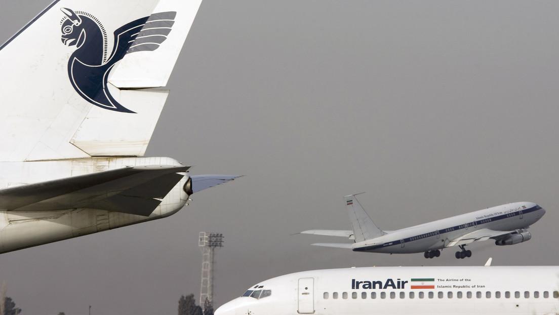 Un avión de pasajeros aterriza de emergencia en Teherán por un fallo técnico
