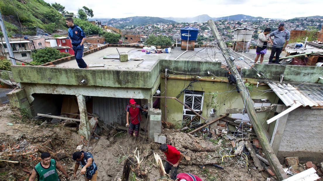 Al menos 44 muertos y 19 desaparecidos tras lluvias torrenciales en Brasil