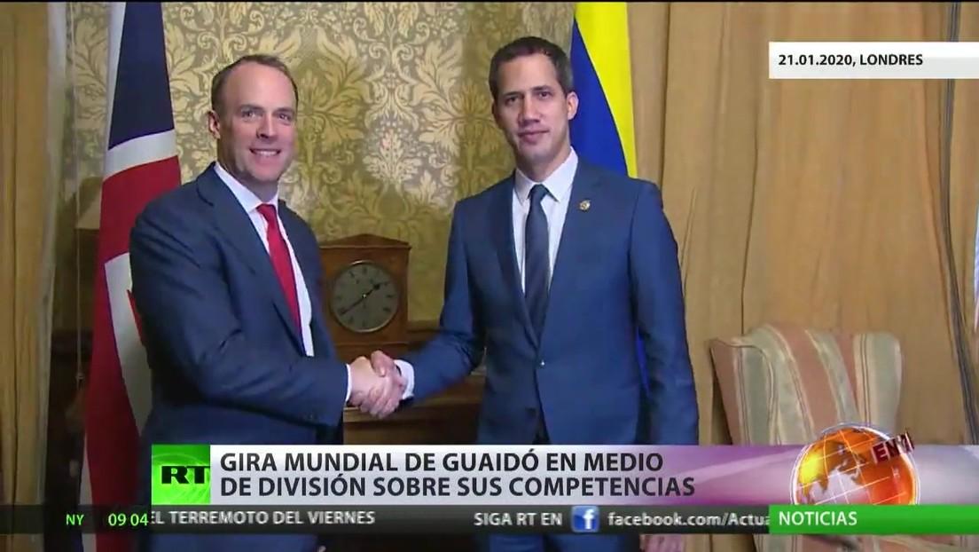 Guaidó finaliza su gira mundial en medio de la división sobre sus competencias